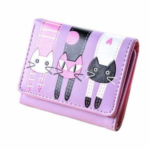Catscratch Kitties Wallet Purple Wallet