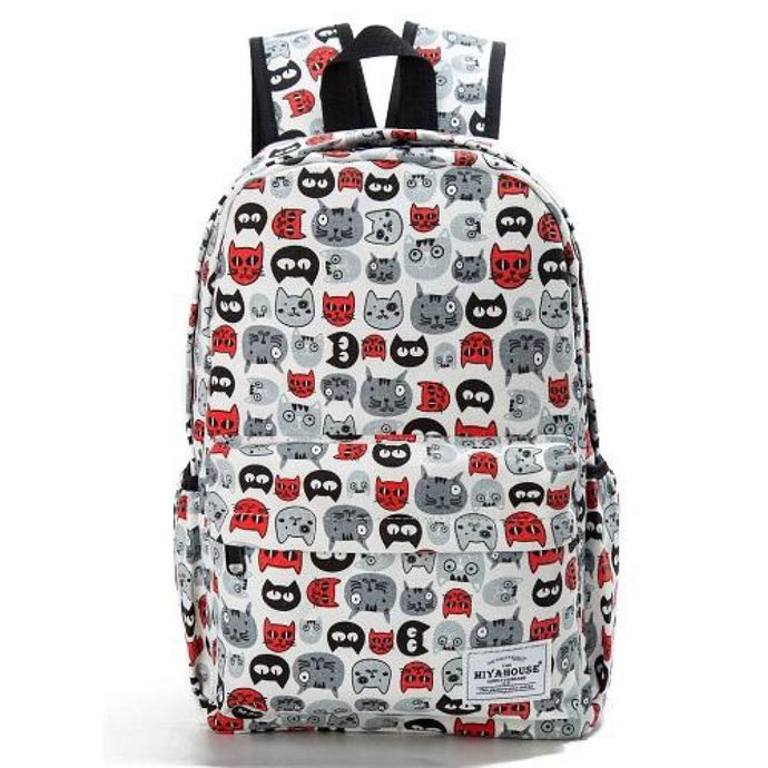 Crazy Cat Heads Backpack Backpack