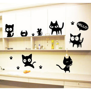 Cute Black Kitties Wall Decoration