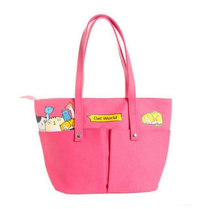 Family Of Kitties Shoulder Bag Candy Pink Shoulder Bag