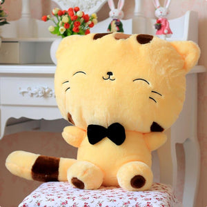 Fluffy Tail Kitty Cushion Yellow / 30Cm Toy