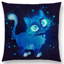 Irresistible Kitties Pillow Covers Big Eyed Colored Pillow