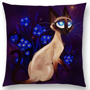 Irresistible Kitties Pillow Covers Blue Eyed Si Colored Pillow