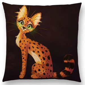 Irresistible Kitties Pillow Covers Green Eye Kitty Colored Pillow