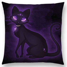Irresistible Kitties Pillow Covers Lady Fluff Colored Pillow