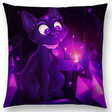 Irresistible Kitties Pillow Covers Purple Fluffy Colored Pillow
