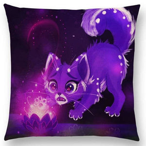 Irresistible Kitties Pillow Covers Scared Fluffy Colored Pillow