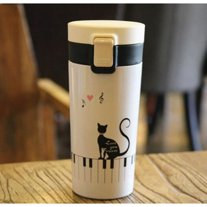 Keyboard Cat Travel Mug White Mug