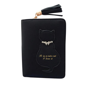 Kitten In A Bow Tie Wallet Black / China Wallet