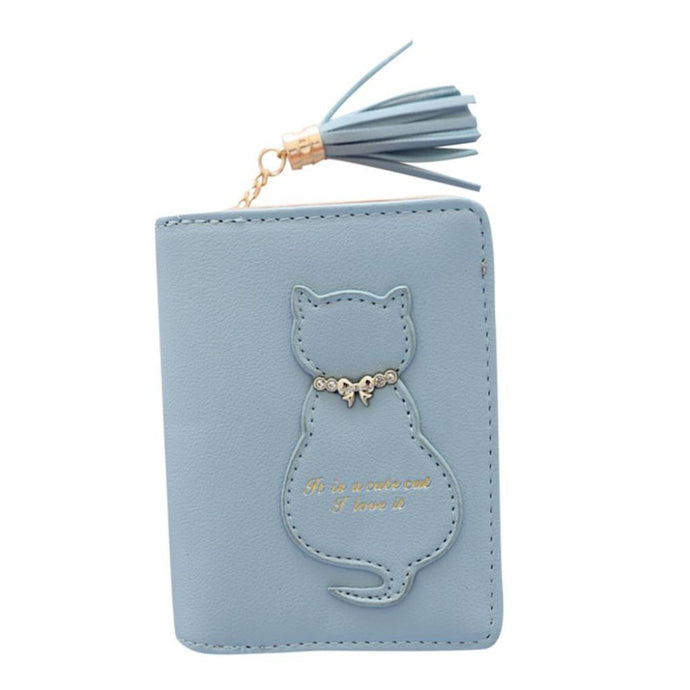 Kitten In A Bow Tie Wallet Blue / China Wallet