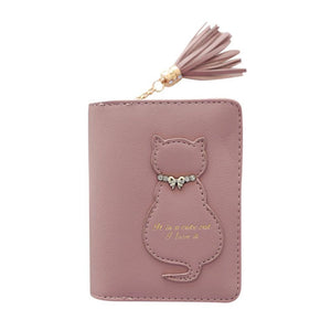 Kitten In A Bow Tie Wallet Pink / China Wallet