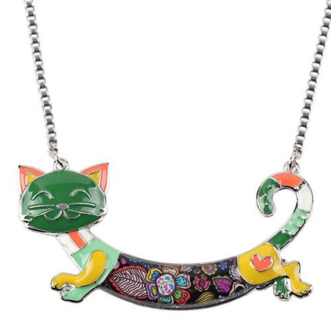Kitten Of Flowers Pendant Greenish Pendant