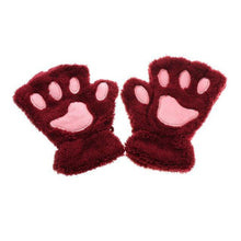 Kittens Paw Gloves Cherry Fluffy Wear