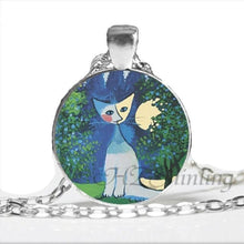 Kitty Medallion Of Rosina Wachtmeister Looking Out The Window / Silver Pendant