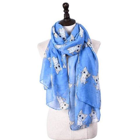 Little Chi Scarf Blue Scarf