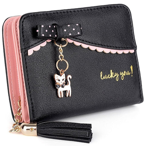 Lucky Kitty Wallet Black Wallet