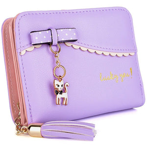 Lucky Kitty Wallet Purple Wallet