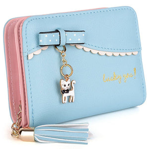 Lucky Kitty Wallet Sky Blue Wallet