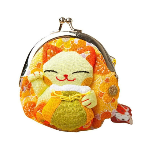 Maneki Neko Fluffy Kitty Coin Purse Bag Of Fortune Wallet