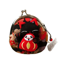 Maneki Neko Fluffy Kitty Coin Purse Bombay Wallet