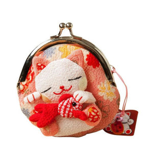 Maneki Neko Fluffy Kitty Coin Purse Dream Big Wallet