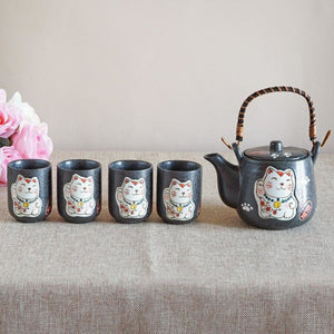 Maneki-Neko Good Fortune Tea Set Tea Set