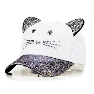 Mc Skat Kat Baseball Cap White Hat