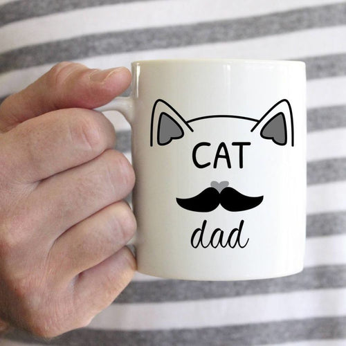 Mr. & Mrs. Cat Mug Dad Mug