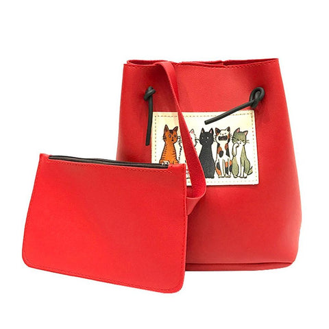 Neko No Shuukai At Your Party Shoulder Bag Red Shoulder Bag