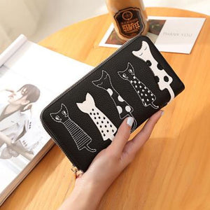 Neko No Shuukai Wallet Black Wallet
