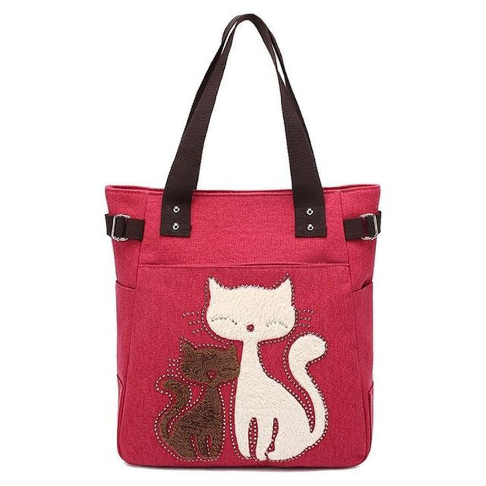 Purrfect Duo Shoulder Bag Red Shoulder Bag