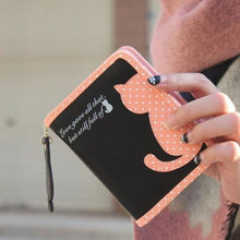 Purrfect Kitty Wallet Black Purse