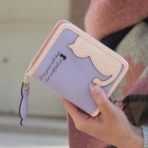 Purrfect Kitty Wallet Purple Purse