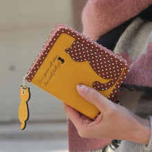 Purrfect Kitty Wallet Yellow Purse