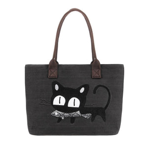 Purrfect Meow Shoulder Bag Black Shoulder Bag