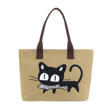 Purrfect Meow Shoulder Bag Khaki Shoulder Bag