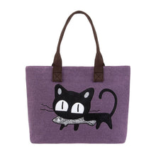 Purrfect Meow Shoulder Bag Purple Shoulder Bag