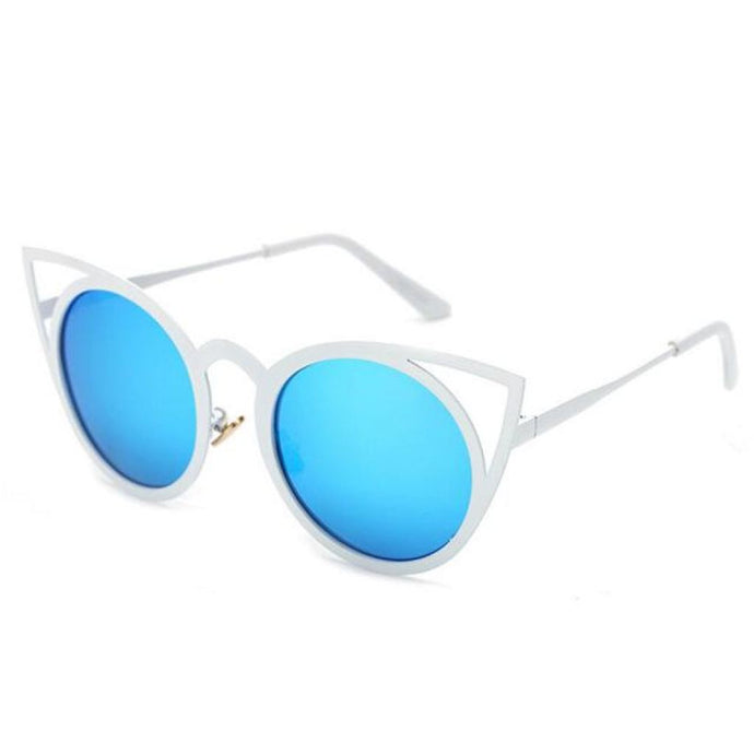 Royal Kitty Sunglasses White & Blue Sunglasses