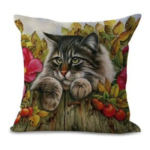 Sleeping Kitties Pillow Covers Fluffy Pillow Cover