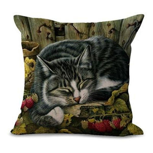 Sleeping Kitties Pillow Covers Milo Pillow Cover