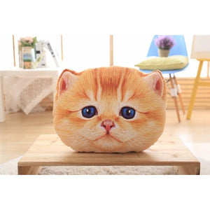 Sugar Face Kitty Pillow Oliver / 40Cm Fluffy Pillows