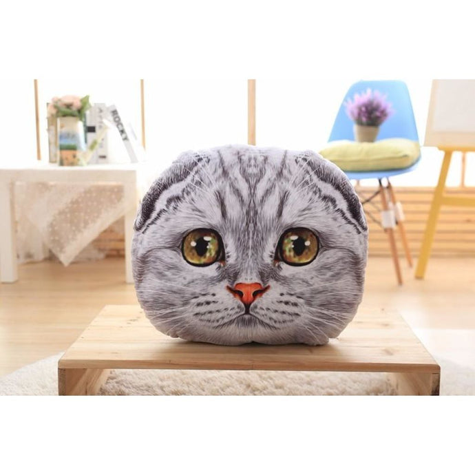 Sugar Face Kitty Pillow Scratchy / 40Cm Fluffy Pillows
