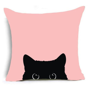 Super Meow Pillow Cover 2 Eyes And A Head Fluffy