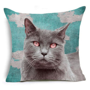 Super Meow Pillow Cover Leon Fluffy