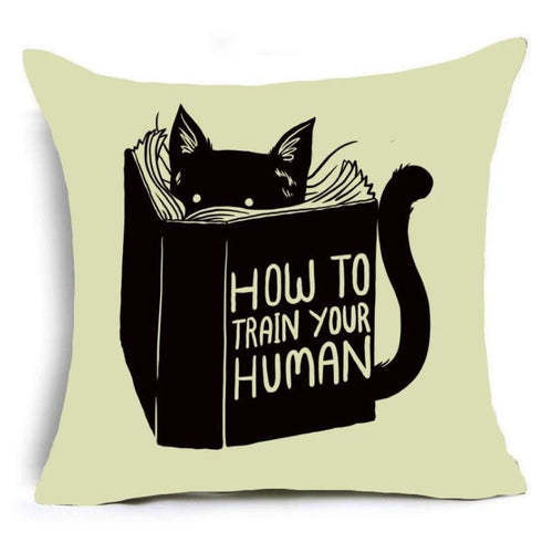 Super Meow Pillow Cover Personal Coach Fluffy
