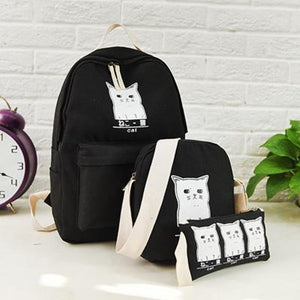 Trouble Combo Kitty Backpack Black Backpack
