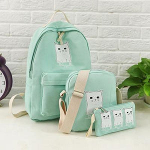 Trouble Combo Kitty Backpack Honeydew Backpack