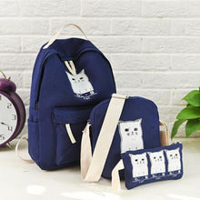 Trouble Combo Kitty Backpack Navy Blue Backpack