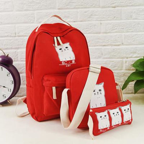 Trouble Combo Kitty Backpack Red Backpack