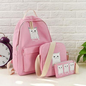 Trouble Combo Kitty Backpack Sky Pink Backpack